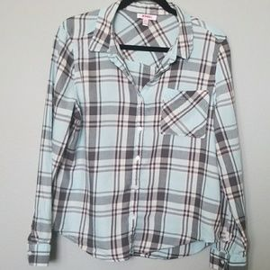 Bongo girls XL  plaid long sleeve shirt